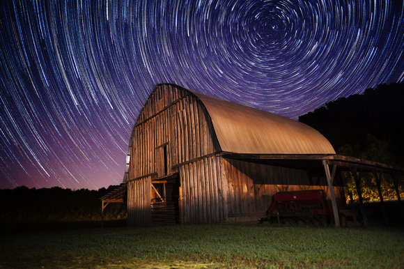 Smith Barn with Star Trails